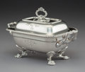 Silver & Vertu:Hollowware, A George III Silver Covered Sauce Tureen, London, 1813. Marks: (lion passant), (crowned leopard), (duty mark), S, T*R...