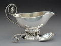 Silver & Vertu:Hollowware, A Georg Jensen Silver Sauce Boat with Sauce Ladle, Copenhagen, Denmark, post-1945. Marks to sauce boat: DENMARK, GEORG JEN... (Total: 2 Items)