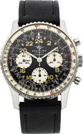 Timepieces:Wristwatch, Breitling Very Fine Ref. 809 Steel Cosmonaute Wristwatch. ...