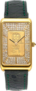 Timepieces:Wristwatch, Corum Ingot, Ref 55400, 18K with Diamond dial. ...