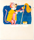 "Original Comic Art:Illustrations, Art Seiden Tip Top Tales #2488 ""Snagglepuss: The Way To Be aKing"" Pages 8-9 Painting Original Art Group of 2 (Han... (Total: 2Original Art)"