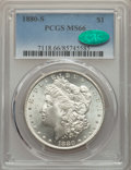 Morgan Dollars: , 1880-S $1 MS66 PCGS. CAC. PCGS Population: (11163/2506). NGC Census: (11727/3492). MS66. Mintage 8,900,000. ...