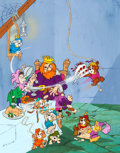 Animation Art:Presentation Cel, The Biskitts Promo Poster Cel and Painted Background(Hanna-Barbera, 1983)....