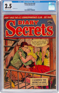 Golden Age (1938-1955):Romance, Diary Secrets #25 (St. John, 1954) CGC GD+ 2.5 Cream to off-whitepages....