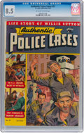 Golden Age (1938-1955):Crime, Authentic Police Cases #21 (St. John, 1952) CGC VF+ 8.5 Off-white to white pages....