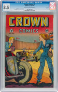 Golden Age (1938-1955):Adventure, Crown Comics #7 Big Apple pedigree (Golfing, Inc., 1946) CGC VF+ 8.5 Light tan to off-white pages....