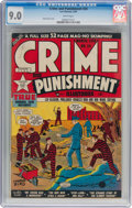 Golden Age (1938-1955):Crime, Crime and Punishment #24 (Lev Gleason, 1950) CGC VF/NM 9.0 White pages....