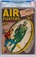 Golden Age (1938-1955):War, Air Fighters Comics V2#6 (Hillman Fall, 1944) CGC FN+ 6.5 Cream tooff-white pages....