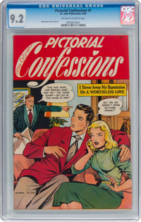 Pictorial Confessions #1 (St. John, 1949) CGC NM- 9.2 Off-white to white pages