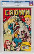 Golden Age (1938-1955):Miscellaneous, Crown Comics #4 (Golfing Inc., 1945) CGC FN+ 6.5 Off-white to white pages....