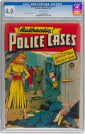 Golden Age (1938-1955):Crime, Authentic Police Cases #11 (St. John, 1951) CGC VG 4.0 Off-white pages....