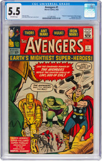 The Avengers #1 (Marvel, 1963) CGC FN- 5.5 Off-white pages