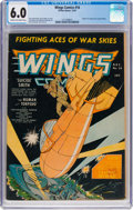 Golden Age (1938-1955):War, Wings Comics #16 (Fiction House, 1941) CGC FN 6.0 Cream tooff-white pages....