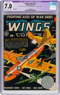 Golden Age (1938-1955):War, Wings Comics #32 (Fiction House, 1943) CGC Apparent FN/VF 7.0Slight (C-1) Off-white to white pages....
