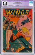 Golden Age (1938-1955):War, Wings Comics #94 (Fiction House, 1948) CGC Apparent VG- 3.5 Slight(C-1) Cream to off-white pages....