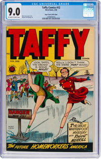 Taffy Comics #12 Mile High Pedigree (Rural Home, 1948) CGC VF/NM 9.0 Off-white to white pages