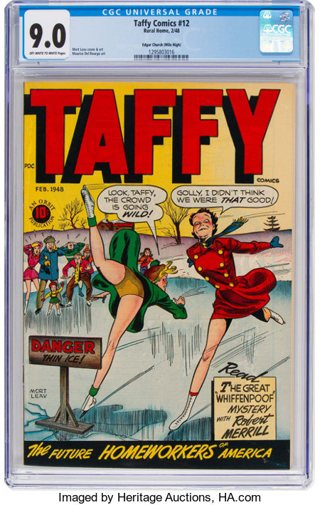 Taffy Comics #12 Mile High Pedigree (Rural Home, 1948) CGC VF/NM 9.0 Off-white to white pages....