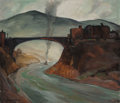 Paintings, Carl Frederick Gaertner (American, 1898-1952). The Bridge, 1930. Oil on canvas. 30-1/8 x 38 inches (76.5 x 96.5 cm). Sig...