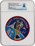 Explorers:Space Exploration, Flight Crew Operations: Rare Original Johnson Space Center Patch Directly From The Armstrong Family Collection™, Certified...