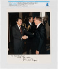 Explorers:Space Exploration, President Ronald Reagan: Official 1988 White House Color Photo Signed (Autopen) to Neil Armstrong Directly From The Armstr...
