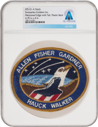 Space Shuttle: Discovery STS-51-A Swissartex Emblem Inc. Mission Insignia Patch Directly Fro