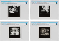 Gemini 8: Group of Four Television Screen Photographs of the CBS Coverage of the Gemini 8 Mission From The Armstrong Fam...
