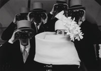 Frank Horvat (French, b. 1928) Givenchy, Hat B, for Jardin des Modes, Paris, 1958 Gelatin silver, 19