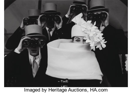 Frank Horvat (French, b. 1928) Givenchy, Hat B, for Jardin des Modes, Paris, 1958 Gelatin silver, 1997 10 x 14 inches...