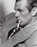 Photographs, Clarence Sinclair Bull (American, 1895-1979). Gary Cooper, 1938. Gelatin silver. 9-1/4 x 7-1/8 inches (23.5 x 18.1 cm). ...