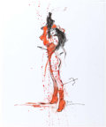 Original Comic Art:Illustrations, Bill Sienkiewicz Elektra: Assassin Ink and WatercolorIllustration Original Art (undated)....