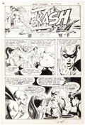 Original Comic Art:Panel Pages, Neal Adams and Nick Cardy Teen Titans #21 Story Page 4Robin, Wonder Girl, Speedy, Kid Flash, Hawk, and Dove Origi...
