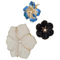 Estate Jewelry:Brooches - Pins, Diamond, Rock Crystal Quartz, Cultured Pearl, Enamel, Gold Brooches. ... (Total: 3 Items)