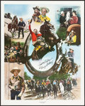 "Movie Posters:Western, Gene Autry Limited Edition Print (Nostalgia Merchant, 1982).Autographed Poster (24"" X 30""). Western.. ..."