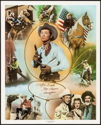 "Roy Rogers Print (Nostalgia Merchant, 1977). Autographed Artist's Proof Personality Poster (24"" X 30"") ""K..."