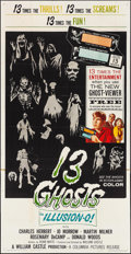 """Movie Posters:Horror, 13 Ghosts (Columbia, 1960). Three Sheet (41"""" X 79""""). Horror.. ..."""