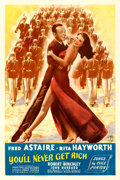 "Movie Posters:Musical, You'll Never Get Rich (Columbia, 1941). One Sheet (27"" X 41"") StyleB.. ..."