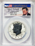 Proof Kennedy Half Dollars, 2014-W 50C Reverse Proof, 50th Anniversary Set, First Strike, PR70 PCGS. PCGS Population: (2701). NGC Census: (0). ...