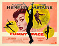 """Movie Posters:Romance, Funny Face (Paramount, 1957). Half Sheet (22"""" X 28"""") Style B.. ..."""