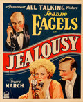 "Movie Posters:Drama, Jealousy (Paramount, 1929). Trimmed Window Card (14"" X 17"").. ..."
