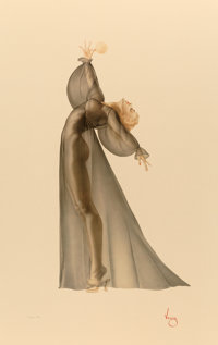 After Alberto Vargas (American, 1896-1982) Sheer Elegance, 1987 Lithograph on opalesque paper 48