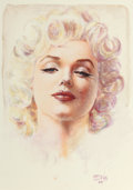 Other, Olivia De Berardinis (American, b. 1948). Marilyn Monroe, 1999. Watercolor on board. 16 x 11.5 in. (image). Signed and d...