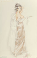 Other, Alberto Vargas (American, 1896-1982). D for Darned, preliminary Sketch, circa 1960. Pencil and pastel on tracing paper. ...