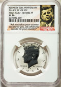 Proof Kennedy Half Dollars, 2014-W 50C High Relief Reverse Proof, 50th Anniversary Set, PR70 NGC. NGC Census: (0). PCGS Population: (2701)....