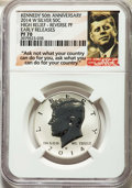 Proof Kennedy Half Dollars, 2014-W 50C Reverse Proof, 50th Anniversary Set, Early Releases, PR70 NGC. NGC Census: (0). PCGS Population: (2701)....