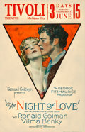 "Movie Posters:Romance, The Night of Love (United Artists, 1927). Window Card (14"" X 22"")....."