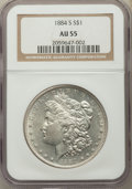 Morgan Dollars: , 1884-S $1 AU55 NGC. NGC Census: (1931/2260). PCGS Population:(2203/1676). CDN: $365 Whsle. Bid for problem-free NGC/PCGS A...