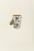 Prints & Multiples, James Rosenquist (1933-2017). Calyx Krater Trash Can, 1977. Etching with gold leaf on paper. 5-1/4 x 4-3/4 inches (13.3 ...