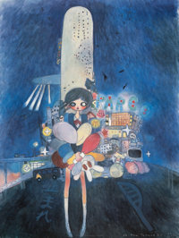 Aya Takano (b. 1976) Little Stars of a City Child, 2006 Offset lithograph in colors on smoothe wove