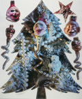 Fine Art - Work on Paper:Print, After Marilyn Minter . Merry, Merry (two works), 2007. Offset lithograph on vinyl sticker. 70 x 48 inches (177.8 x 121.9...