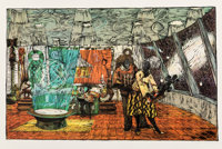 Kerry James Marshall (b. 1955) Keeping the Culture, 2011 Screenprint and linocut in colors on Arches
